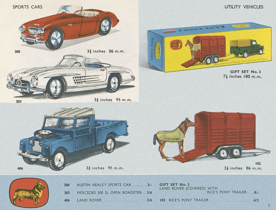 Corgi Toys catalogue 1958