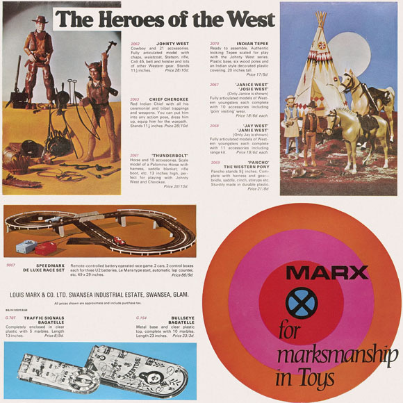 Marx for marksmanship in Toys Flyer 1968