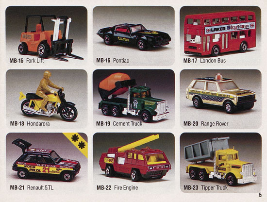 Matchbox catalogue 1984