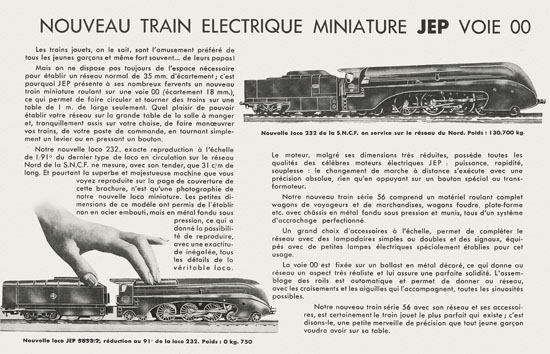 Trains JEP Serie 56 catalogue 1950