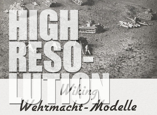 Wiking Wehrmachtmodelle 1939, Wiking Katalog 1939
