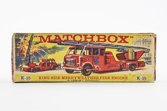 Matchbox King Size K-15 Merryweather Fire Engine OVP