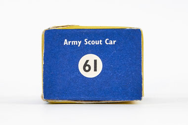Matchbox 61 Army Scout car OVP