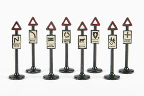 Matchbox 4 Accessory Pack Road Signs