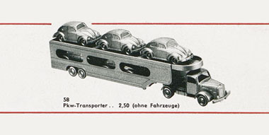 Wiking Mercedes Benz L 5000 Autotransporter